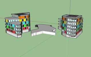 de gebouwen (en parkeergarage) van 'de Verbinding', zoals ik het getekend heb.