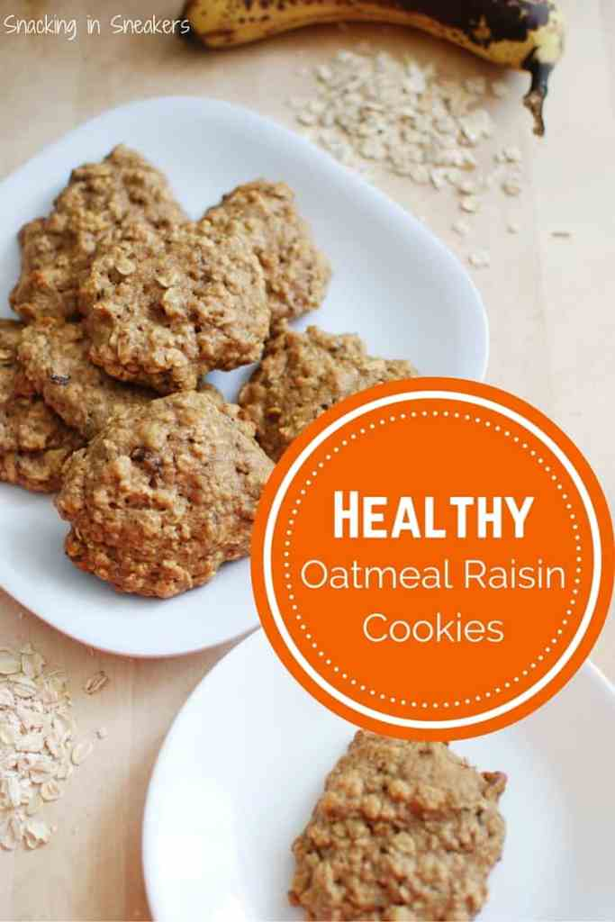 These healthy oatmeal raisin cookies are a bit like muffin tops! They ...