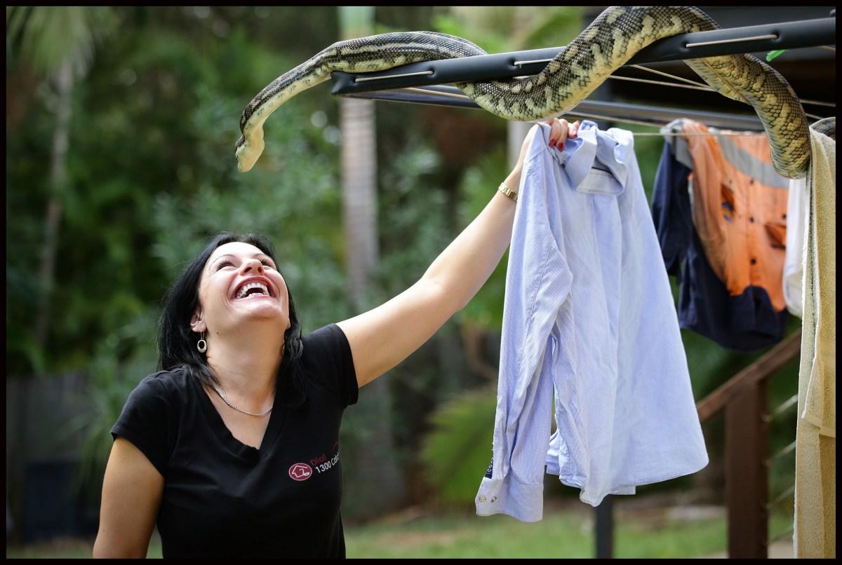 Snake catcher Julia Baker