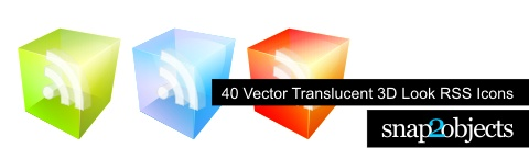 Vector Translucent 3d Look RSS icon