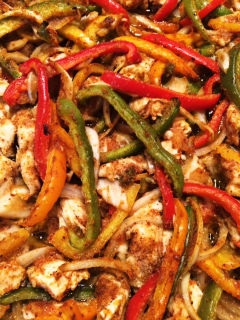 Oven-roasted chicken fajitas on sndwchsetc.com