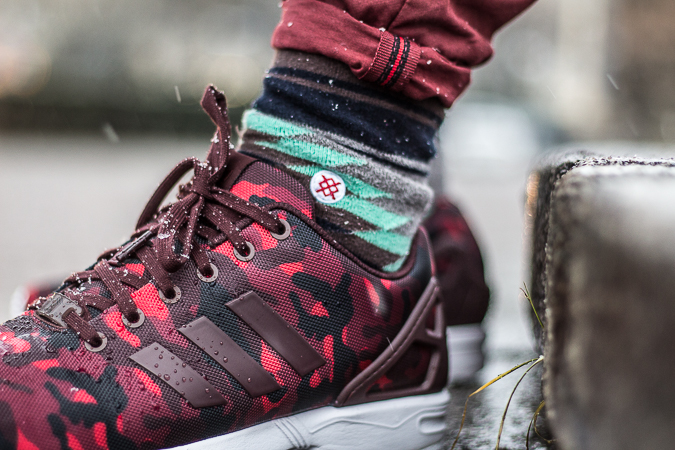 Adidas Zx Flux Red Camo