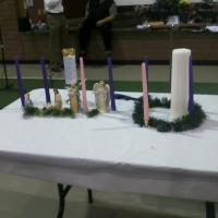 I used not one, but TWO Advent wreaths during my talk. What can I say? Flames are FUN! :)
