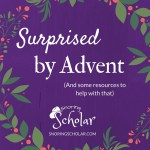 Surprised by Advent and Resources to Help - Sarah Reinhard Snoring Scholar
