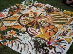Outdoor Mandala dramatherapy plymouth