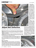 Adjust Belt Deflection