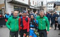 Fabio Bonfanti and Daniele Fornoni with Organizers Christian Zandonella and Giacomo Rorato.