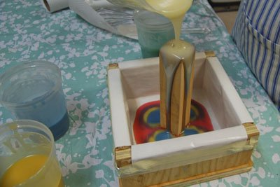 column soap swirl