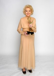 LAS VEGAS - JUNE 27:  Actress Agnes Nixon poses for a portrait with Lifetime Achievement Award at the 37th Annual Daytime Entertainment Emmy Awards held at the Las Vegas Hilton on June 27, 2010 in Las Vegas, Nevada.  (Photo by Charley Gallay/Getty Images for ATI)