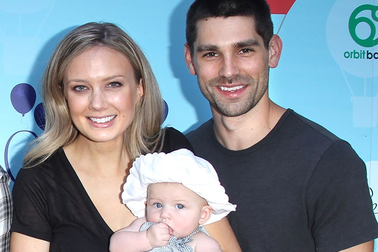 Melissa Ordway, Justin Gaston & daughter Olivia Christine Gaston 5th Annual Red Carpet Safety Event Held at Sony Pictures Studios on September 24, 2016. @AFF/ML/Steven Bergman