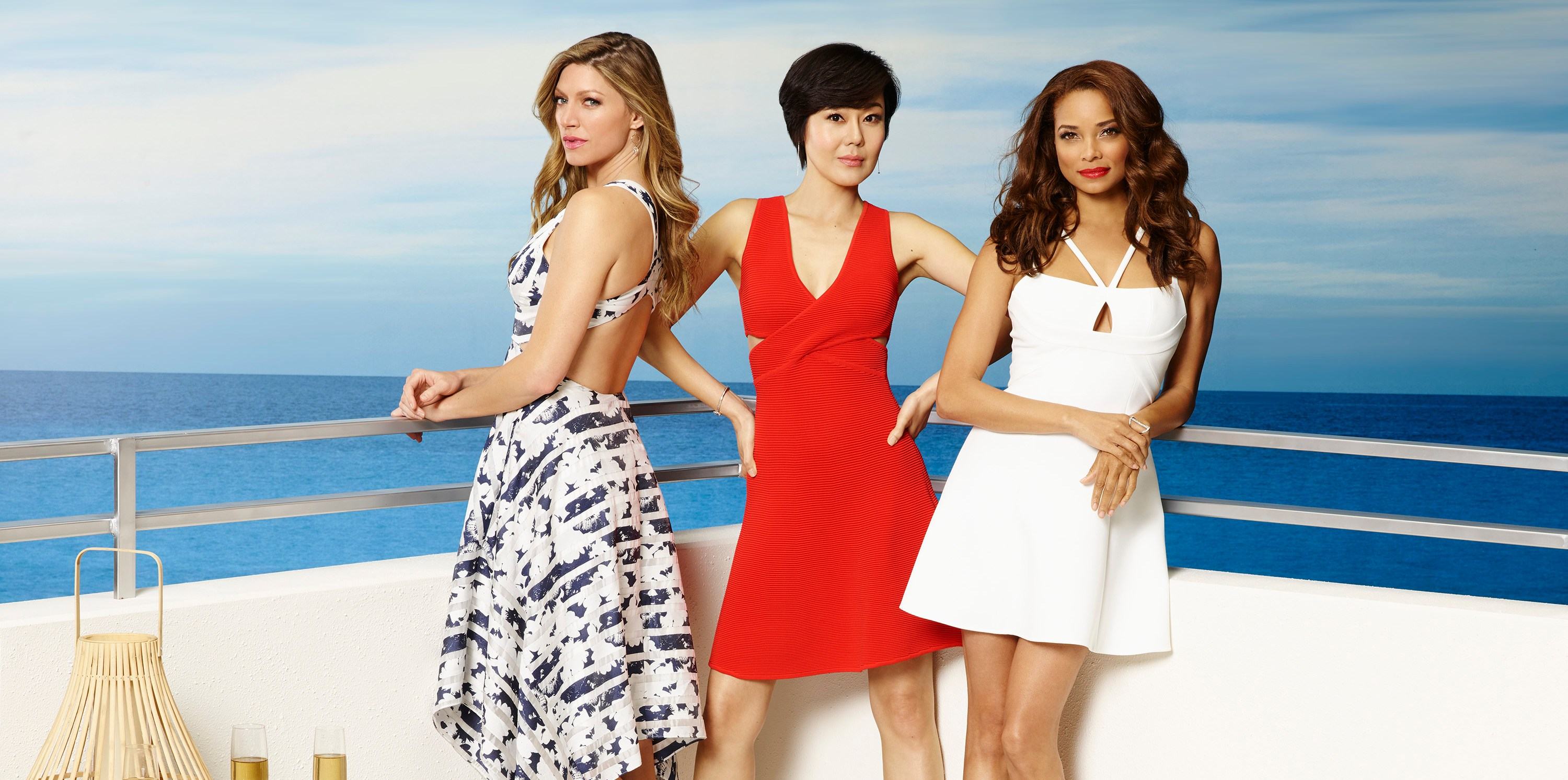 "MISTRESSES - ABC's ""Mistresses"" stars Jes Macallan as Josslyn (""Joss"") Carver, Yunjin Kim as Karen Kim and Rochelle Aytes as April Malloy. (ABC/Craig Sjodin)"
