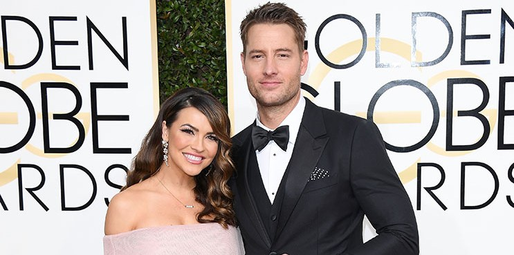 BEVERLY HILLS, CA - JANUARY 08:  Chrishell Stause and Justin Hartley attends the 74th Annual Golden Globe Awards at The Beverly Hilton Hotel on January 8, 2017 in Beverly Hills, California.  (Photo by Venturelli/WireImage)