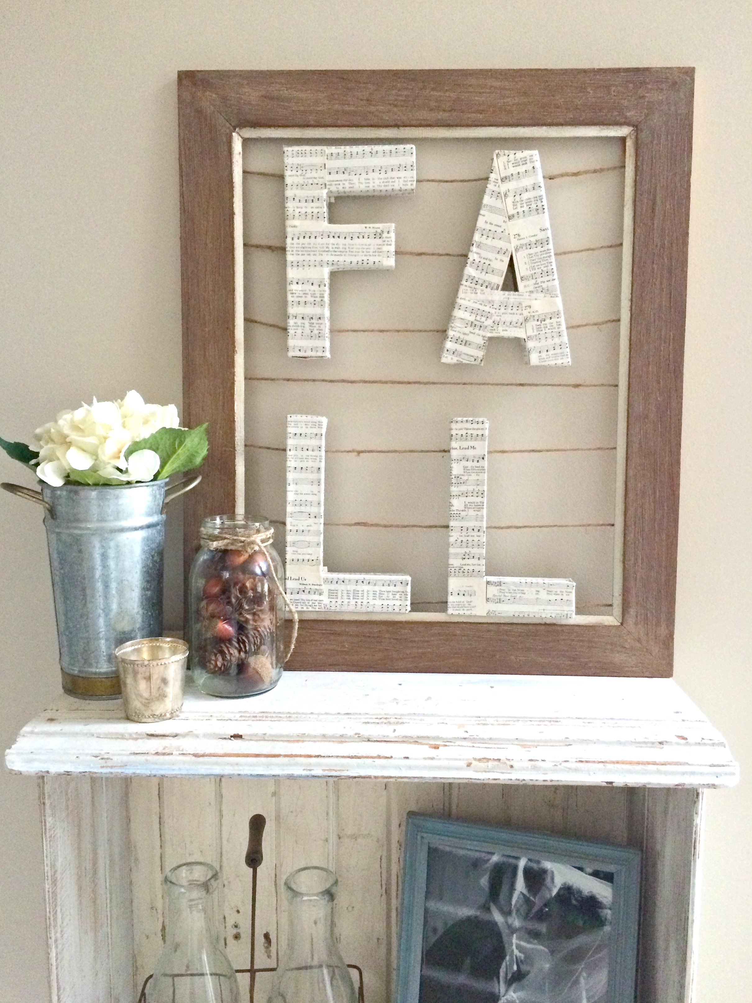 This neutral fall sign is a unique project to add some cozy charm to your fall decor! And so easy too!