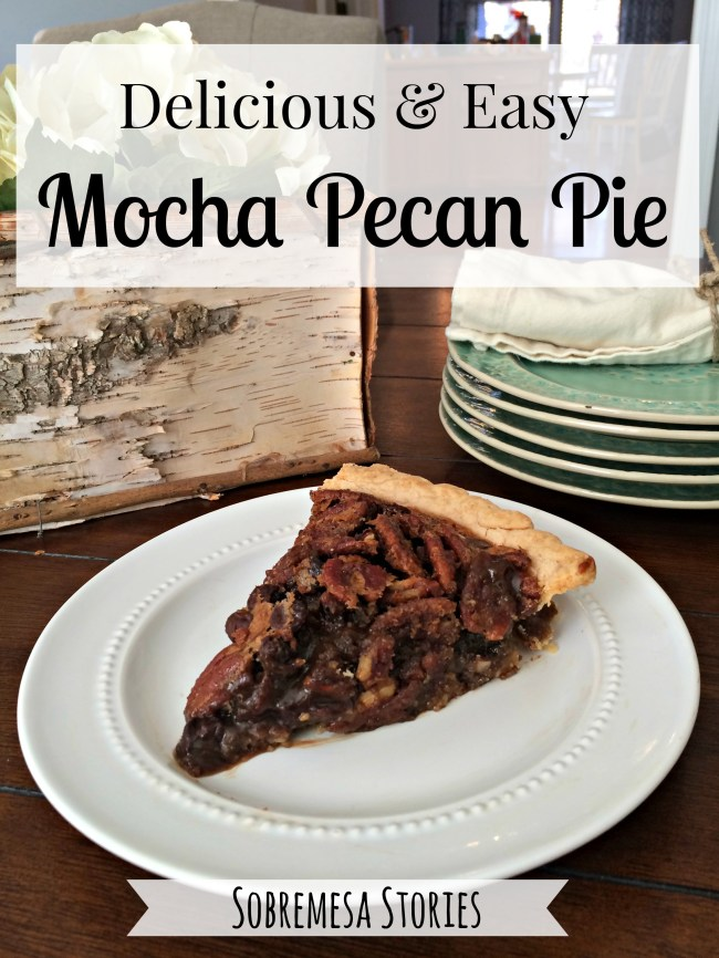 This delicious mocha pecan pie is SO easy to make and full of chocolate, pecan, and coffee flavors. A must-try for Thanksgiving and Christmas!
