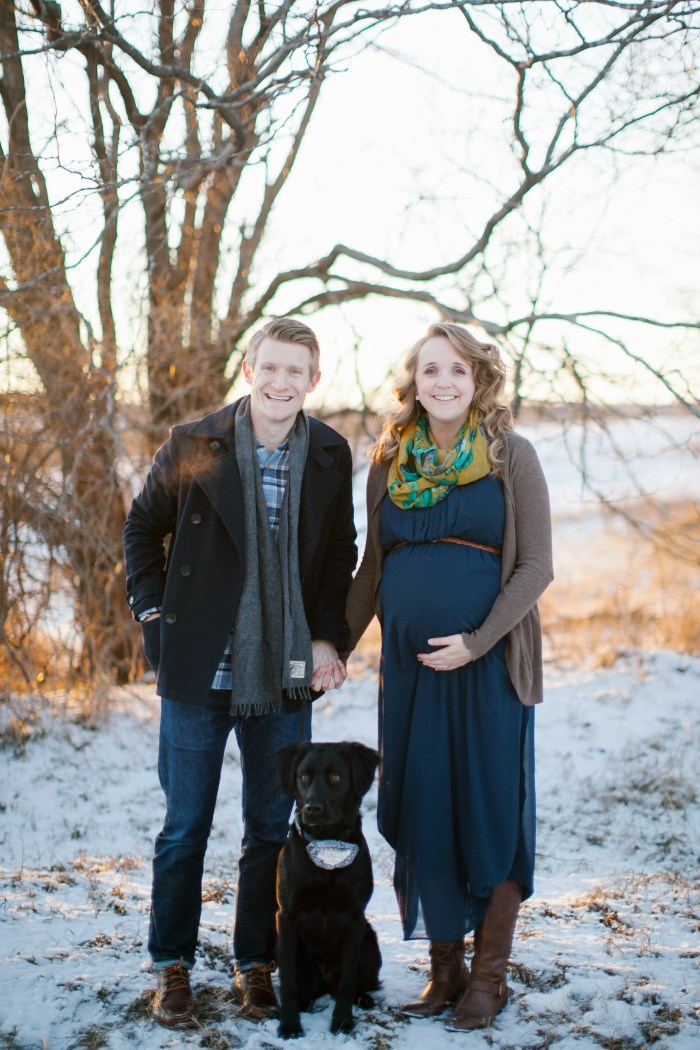 Cozy, Winter Maternity Pictures