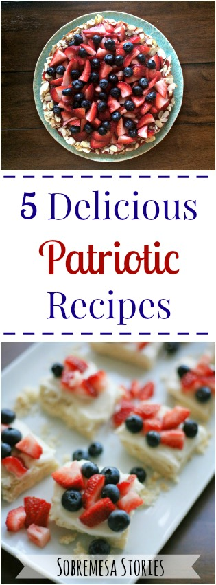 Five delicious and easy patriotic recipes - perfect for Memorial Day or 4th of July parties!