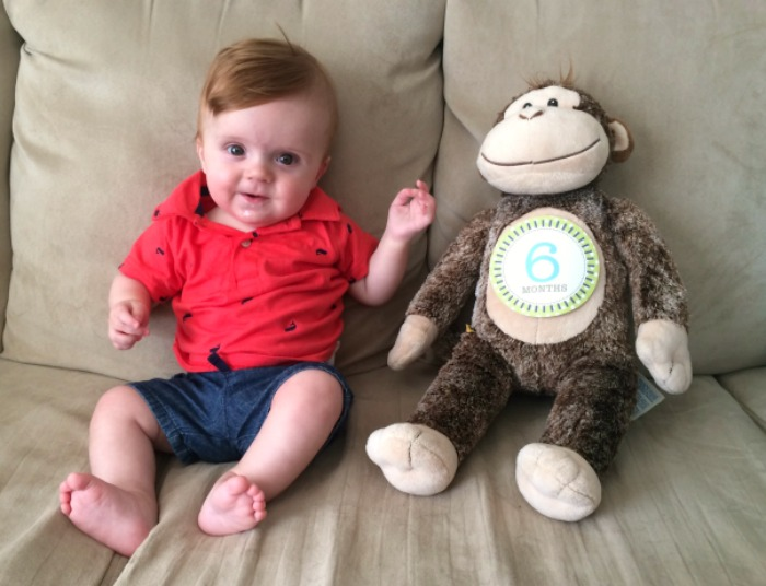 Caleb's Six Month Update Sticker Picture