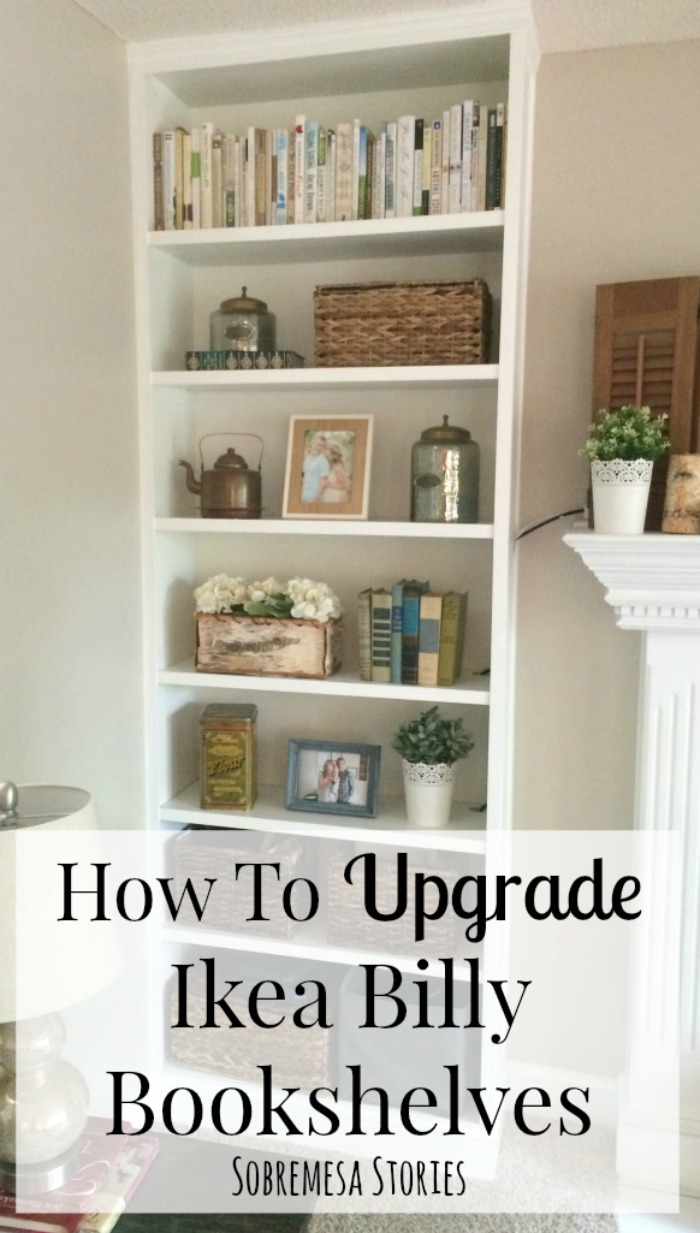 how to upgrade ikea billy bookshelves sobremesa stories - Ikea Billy Bookshelves