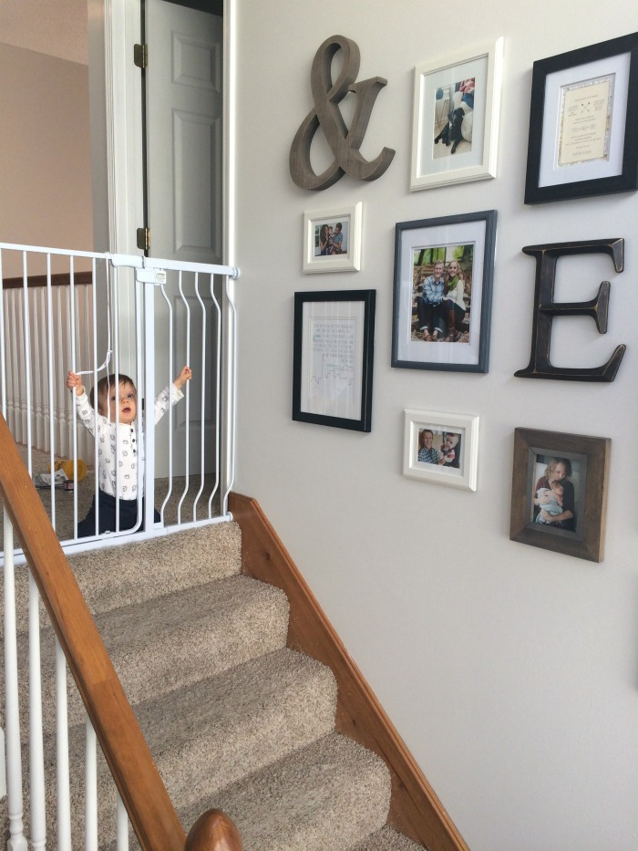 Our Staircase Gallery Wall Baby Gate