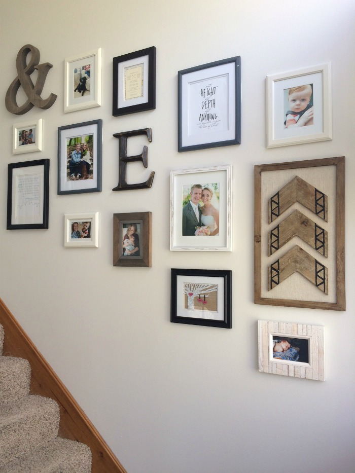 Our Staircase Gallery Wall Finished Product