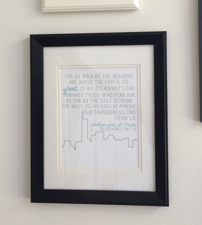 Our Staircase Gallery Wall Scripture Print