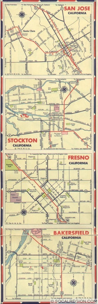 1939 Cities - San Jose, Stockton, Fresno, Bakersfield