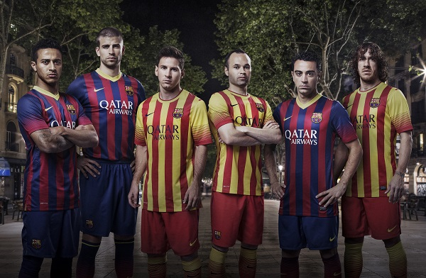 FC Barcelona Home and Away Jerseys