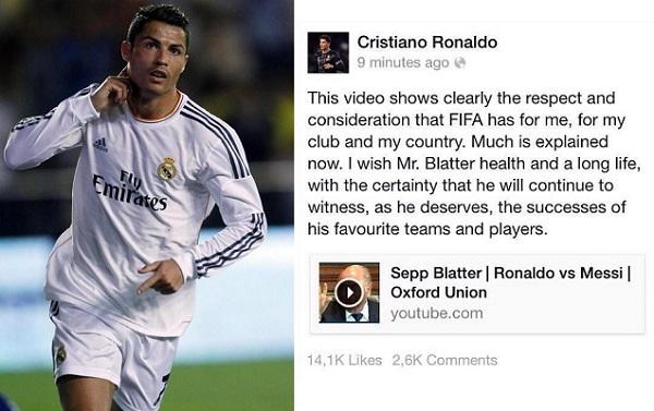 Cristiano Ronaldo x Sepp Blatter