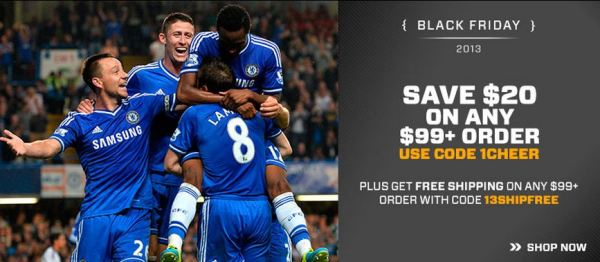 Soccer Black Friday 20 Off
