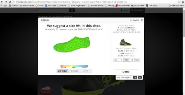 Shoefitr app