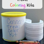 DIY Snack Container Travel Coloring Kits