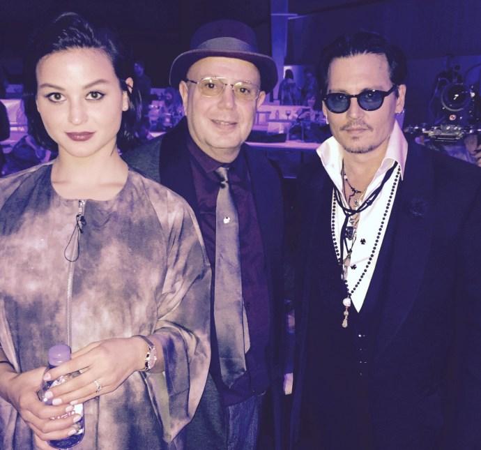 Sara Von Kienegger Edward Bass and Johnny Depp
