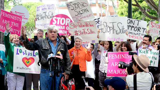 Jay Leno and the Beverly Hills Hotel Protest