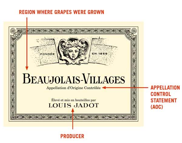 French-Wine-Label