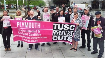 Plymouth TUSC candidates and supporters during the May 2014 local elections campaign