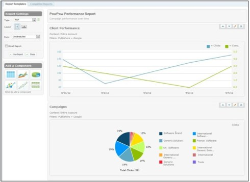Report Builder for Marin Enterprise, marin software