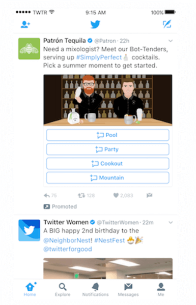 Twitter launched new, customizable Direct Message Cards.