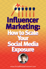 Influencer Marketing: How to Scale Your Social Media Exposure featuring insights from Neal Schaffer on the Social Media Marketing Podcast.