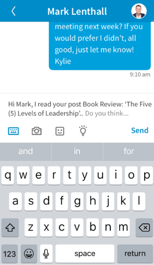 Add a closing to your LinkedIn message and then click Send.