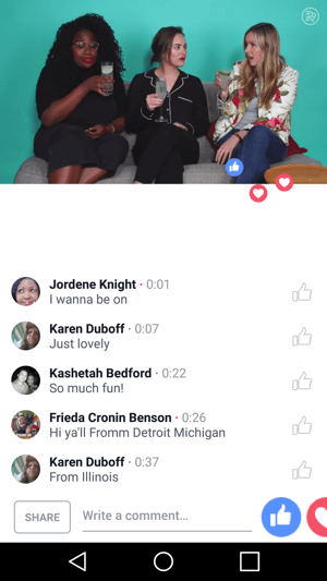 Refinery29 hosts a Facebook Live talk show.