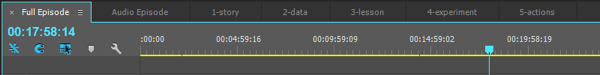 I use seven sequences in Premiere to edit my podcast and video segments.