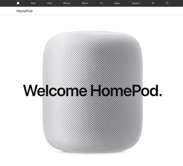 Apple unveils a new HomePod speaker, controlled through natural voice interaction with Siri.