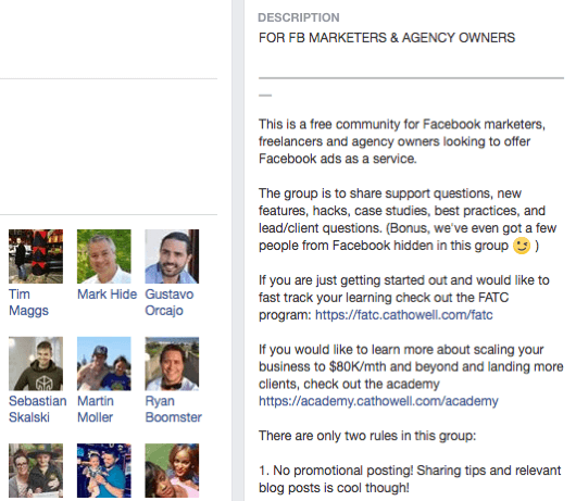 Before you post or interact in a Facebook group, read the group rules.