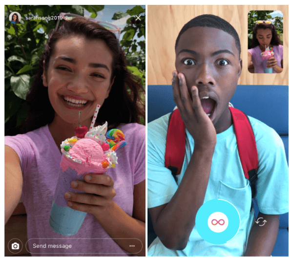 Instagram Stories replies now include photos, videos, and Boomerangs.