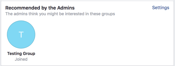 Click Settings to manage your linked groups.