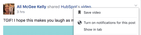 Turn on notifications for a specific post in your Facebook group.