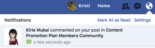 Receive a notification when someone asks to join your Facebook group.