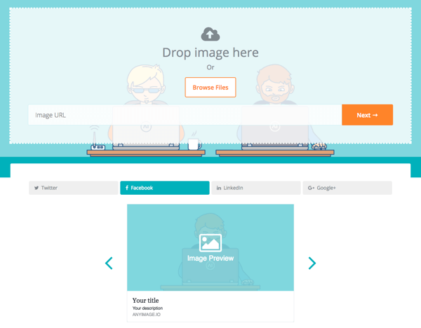 Use AnyImage to customize what graphics show on social.