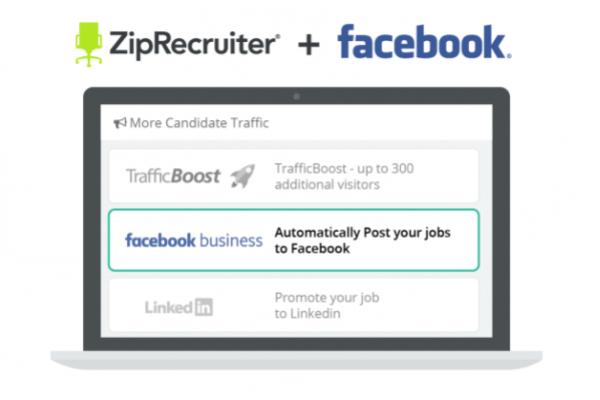 Facebook integrates ZipRecruiter listings into jobs bookmark on the platform.