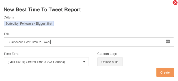 Generate a Best Time to Tweet report in Audiense.